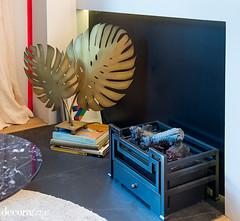 Delirio y aplomo_01 (Decoratrix.com) Tags: casadecor decoracin interiorismo madrid exposicin 2016 chimenea latn hoja escultura