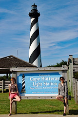 Gemineyes (erinwilt) Tags: outer banks obx lighthouse light house ocean sea waves cape hatteras north carolina usa girls pretty canon rebel xt beautiful summer autumn fall photography twins geminis redhead red hair sisters love family nc cute nautical holiday vacation best friends forever bffs photographs inspiration nature smile gemini