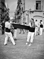 Santa Tecla 2016 (deni70) Tags: tarragona spain santatecla 2016 20mm panasonic bw catalunya castellers castells calle castillos