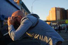 Bend (dtanist) Tags: nyc newyork newyorkcity new york city sony a7 contax zeiss carlzeiss carl planar 45mm brooklyn coney island hot rod tattoo hotrod show photographer camera lean leaning bend