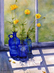 """Postcards: """"Shades of Blue,"""" from an original watercolor by Margaret Walsh Best (ali eminov) Tags: postcards shadesofblue artist margaretwalshbest"""