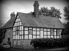 Manor house B&B, original timber framed cottage (eucharisto deo) Tags: bw fachwerk timberframe tudor much wenlock tudorstyle blackandwhite bandw blackwhite timber frame timberframed