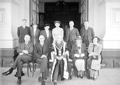 6; Mayor and committee members, Mayor T C Hislop wearing mayoral robes and chain - Circa 1938 (Wellington City Council) Tags: wellington historicwellington 1800s 1900s 1950s