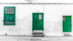 green / in explore (Gnter Glasauer) Tags: lanzarote spanien spain door weathered old window