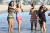 Rochelle Humes, Mollie King, Frankie Sandford and Vanessa White of The Saturdays spend the day at the beach. Venice Beach, California
