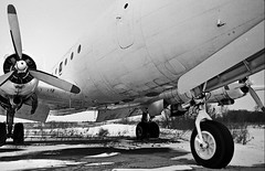 Flight Two Has Been Cancelled (Craig's Making Pictures) Tags: winter blackandwhite bw black vintage airplane minolta aircraft aviation derelict dc4 x7a