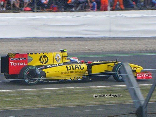 Vitaly Petrov in his Renault at the 2010 British Grand Prix