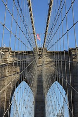 (janniswerner) Tags: city nyc newyorkcity bridge urban ny newyork architecture brooklyn manhattan cable cables brooklynbridge eastriver
