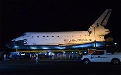 Space Shuttle Endeavour Arriving at Drollinger Parking Lot (hsckcwong) Tags: spaceshuttle endeavour laxtocsc