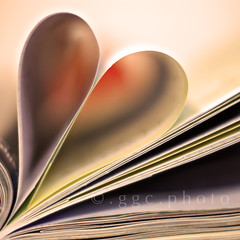 love for... (Gregoria Gregoriou Crowe) Tags: blur 50mm dof heart bokeh books kindles sonyalpha bookheart loveforbooks