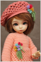 Knopa (Maram Banu) Tags: flowers doll dress handmade crochet bjd beret fairyland ante littlefee fairystyle marambanu