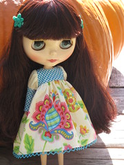Sunny day sewing (fishknees) Tags: red doll dress delicious blythe etsy fishmarket zooey fishknees