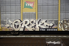 OREKS (Revise_D) Tags: railroad graffiti tagging freight rolling cincinatti revised fr8 orek altr benching oreks fr8heaven revisedesigns