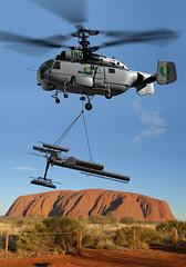 outbackhelicopter helicopterliftingphonetower