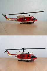 "NAS Fallon ""Longhorns"" HH-1N Iroquois (2) (Mad physicist) Tags: lego bell huey helicopter usnavy uh1 hh1n"