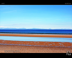 Highlands On The Horizon (tomraven) Tags: blue beach water scotland highlands horizon sutherland moray morayfirth findhorn tomraven aravenimage q42012