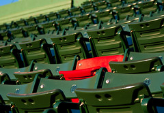 The Red Seat (rcpromike) Tags: boston baseball seat massachusetts redsox seats fenway fenwaypark ballpark bostonredsox baseballstadium majorleaguebaseball theredseat theloneredseat
