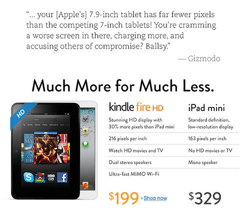 Kindle Fire vs. Apple iPad Mini