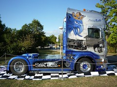 Scania R620 (Miki216) Tags: show blue truck silver power competition chrome v8 airbrush scania 2012 nitra r620 worldcars