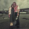 Portland Zombie Walk (LukeOlsen) Tags: rain oregon portland couple zombie rainy undead zombiewalk portlandzombiewalk strobist 580exii lukeolsen pdxstrobist