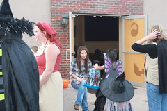Candy Givers in Wellington (rnrlogo) Tags: life street people halloween butterfly hair colorado candy witch wellington