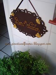 Bem Vindos! (Pincéis & Alfinetes - Stellinha) Tags: handmade artesanal homemade madeira stellinha pintura mdf bemvindos alfinetes pincéis pincéisealfinetes