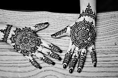 Black and White Mandalas (B.Bubble) Tags: flowers floral hands pattern fingers mandala henna bodyart mehndi adornment