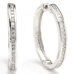 1049. Pair of Diamond Hoops