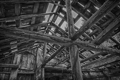 Holding up the roof (GabriolaBill) Tags: canada building abandoned architecture barn rural island high nikon bc dynamic britishcolumbia columbia abandon british gabriolaisland range hdr highdynamicrange gabriola d3s nikond3s