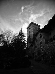 The Tower (Linus Wärn) Tags: blackandwhite bw france tower castle annecy monochrome rhonealpes