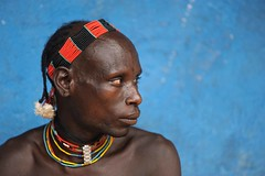 Hamer Warrior, Omo River Valley, Ethiopia (christophe_cerisier) Tags: africa traditional clothes valley tribes omovalley ethiopia tribe hamer tribu riftvalley omo rift greatriftvalley traditionalclothes omoriver hamertribe omorivervalley