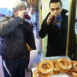 "Mutlu and I drink some şalgam <a style=""margin-left:10px; font-size:0.8em;"" href=""http://www.flickr.com/photos/59134591@N00/8365021974/"" target=""_blank"">@flickr</a>"