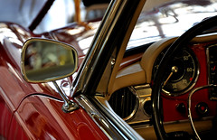 Baby, you can drive my car! (5igrid) Tags: red car vintage reflections mirror chrome oldtimer dashboard steeringwheel babyyoucandrivemycar