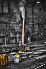 Mobile Heat (J Tys) Tags: bw fire smoke wheels barrel coal hdr nymr hdraddicted thebestofhdr hdrterrorist hdrworlds colourspoting engenshed