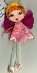 Flapper (Frilled Daisy) Tags: dolls ornaments handpainted fabris