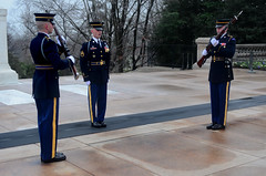 Changing of the Guard (hpaich) Tags: monument arlington soldier army march memorial uniform military tomb rifle guard arlingtonnationalcemetery attention tomboftheunknownsoldier tombguard