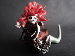 Medusa: Queen Of The Gorgons (playslashwite) Tags: woman hair greek ancient lego snake tail folklore chain greece bow legends monsters minifig hybrid creature gaze medusa mythology daggers gorgon minifigures figbarf