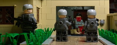 Storming the lair (N-11 Ordo) Tags: house modern yard fight arms lego military garage attack battle front weapon soldiers guns vest crisis forces lair armed hostage storming brickarms eclipsegrafx n11ordo