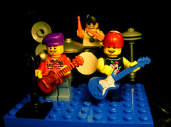 Lego - band (No Name D) Tags: music brick rock drums lego guitar band minifig forge brickforge