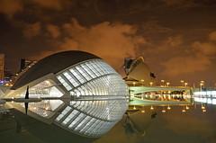 Orbital Manoeuvres in the Dark - Explored! Thank you (Fotomondeo) Tags: valencia españa spain ciudaddelasartesylasciencias cityofartsandsciences noche night reflections reflejos architecture arquitectura