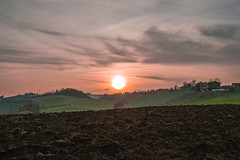 Sunset (frettchen85) Tags: sunset sun sunlight hot beautiful clouds landscape countryside paint italia tramonto nuvole quiet place heart country hill sightseeing sunsets ferrari hills emilia campagna romantic tramonti modena sole terra veduta paesaggio colline collina romagna tranquillo passeggiata nubi quiete romanticsunset
