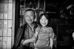 Urban China (Leonid Plotkin) Tags: china family man girl asia cigarette smoke father daughter smoking gansu linxia