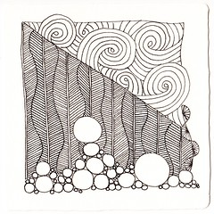 Zen #1 - unshaded (AmyONeal) Tags: zentangle