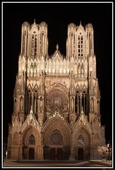 Cathdrale de Reims (Maestr!0_0!) Tags: pose cathdrale reims nuit longue