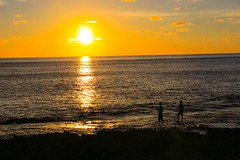 .....Fishing man with golden sunset at Kenting national park) (Charlie ) Tags:         canon 5d3 2470