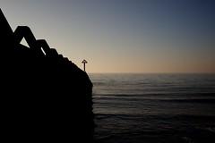 Silhouette (Future-Echoes) Tags: 2012 40mm coast defence essex groyne horizon morning sea shore silhouette waltononthenaze water