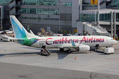 "9Y-TAB | Boeing 737-8Q8/W | Caribbean Airlines (w/ ""Madiba - Nelson Mandela"" logo) (cv880m) Tags: newyork kennedy jfk kjfk 9ytab boeing 737 738 737800 7378q8 winglet caribbeanairlines caribbean nelsonmandela madiba beewee"