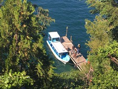Dockside (cliffordswoape) Tags: lakeatitlan lookingdown peaceful dockside dock boat harbor casadelmundo guatemala