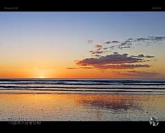 Goodnight Sunshine (tomraven) Tags: beach sunset sky clouds sun horizon repost tomraven aravenimage q32016 q32009 reflections sand surf pentax k20d