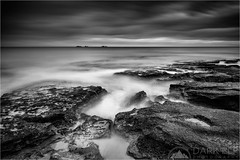Ghosts Between The Rocks (Darkelf Photography) Tags: burns beach perth western australia indian ocean seascape landscape evening dusk sunset longexposure littlestopper lee filter shore coast mono monochrome blackandwhite bw rocks clouds canon 24105mm 5diii maciek gornisiewicz darkelf photography ghostsbetweentherocks 2016